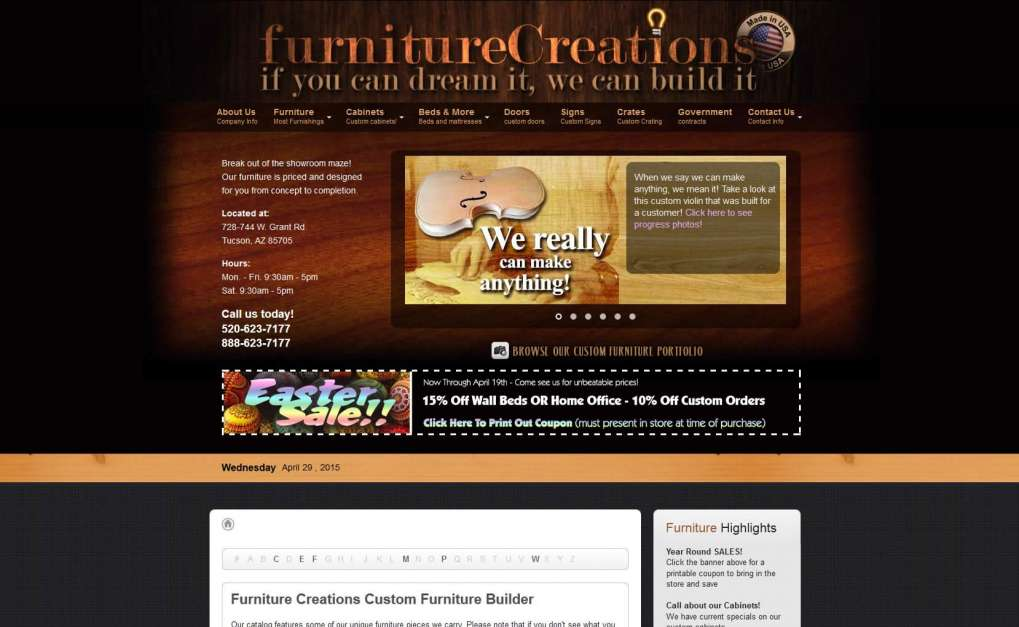 Furniture Creations web site